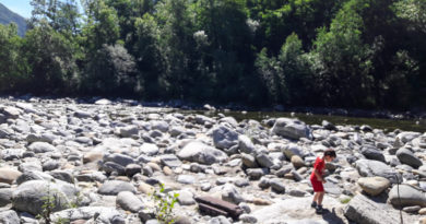 Wandering along River Melezza in Canton Ticino