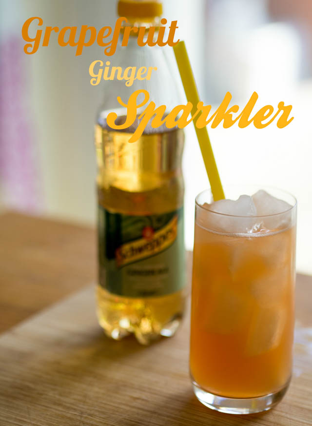 Ready, Steady, Go! Three Fun Summer Cocktails To Quench Thirst and Delight - Grapefruit Ginger Sparkler